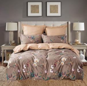 Комплекты постельного белья СайлиД. Цвет: коричневый