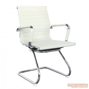 Офисный стул  Кресло посетителя CH-883-LOW-V Кожа цвета слоновой кости (Ivory) Бюрократ. Цвет: бежевый