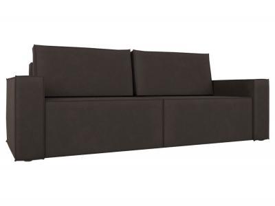 Прямой диван  Лофт Шоколадный, велюр Столлайн. Цвет: коричневый
