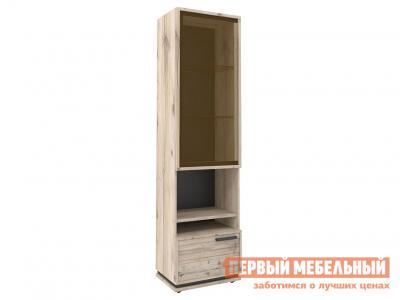 Шкаф-витрина  Натура Гаскон Пайн / Черный Глазов. Цвет: черный
